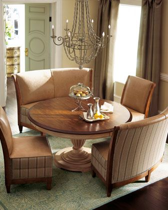 key city furniture linen dining furniture round pedestal table is handcrafted using radiatta solids with a pine veneer chairs and curved banquettes with