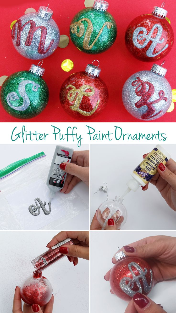 Puffy paint designs - Diy Your Own Puffy Paint Ornaments To Give As Gifts For Family And Friends The