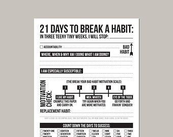 21 Tage um eine gute Gewohnheit: druckbare von microdesign auf Etsy