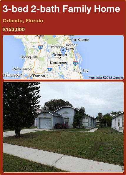 3 bed 2 bath Family Home in Orlando  Florida   153 000  PropertyForSale. 17 best ideas about Orlando Homes For Sale on Pinterest   Sunshine