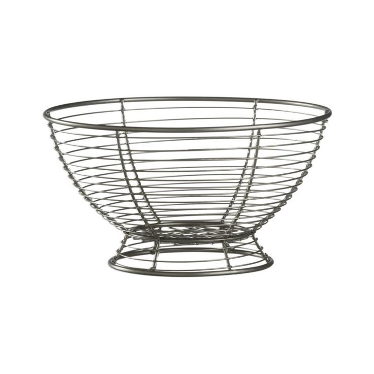 Footed Wire Fruit Basket | Crate And Barrel