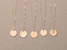 Ultimative Scheibe Halskette / Kreis Halskette von LayeredAndLong