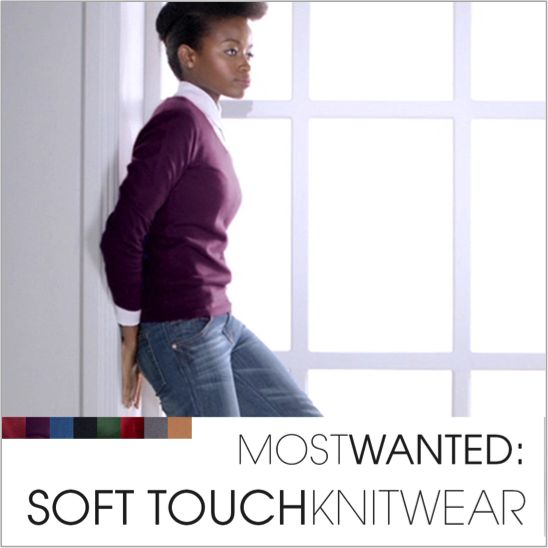 Soft-touch knitwear offers endless style options.