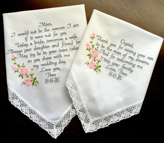 9 best Bride & Groom Embroidered Wedding Hankerchiefs by Canyon ...
