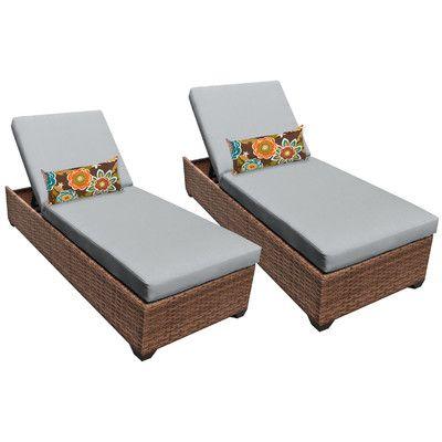 Laguna Chaise Lounge with Cushion Fabric: Gray - http://delanico.com/chaise-lounges/laguna-chaise-lounge-with-cushion-fabric-gray-656403124/