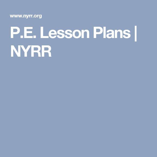 P.E. Lesson Plans | NYRR