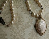 Vintage Damask Pearl Necklace