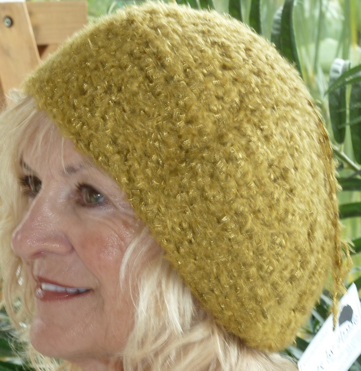 """""""24 karat gold"""" is the name of the hat from hatsbyanne.: Hats, Golden Slouchy, Slouchy Hat, Items, Gold Slouchy, Crochet Golden"""