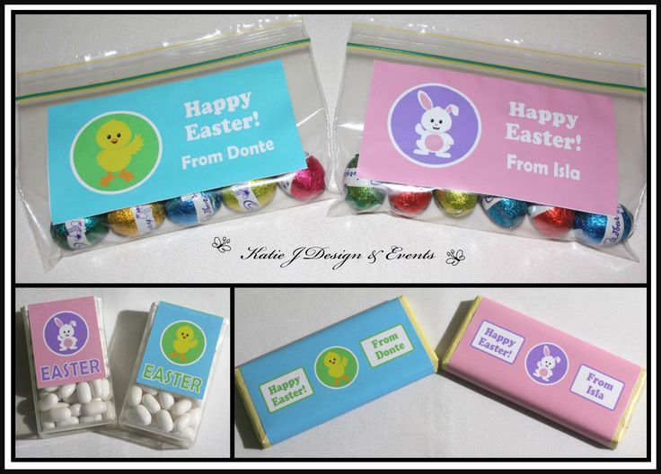 Kids Bunny & Chick  Personalised Easter Friendship Gift Labels Tic Tac Aldi Mini Chocolates Gifts Custom Handmade Present Gift Presents Family Friendship Co workers