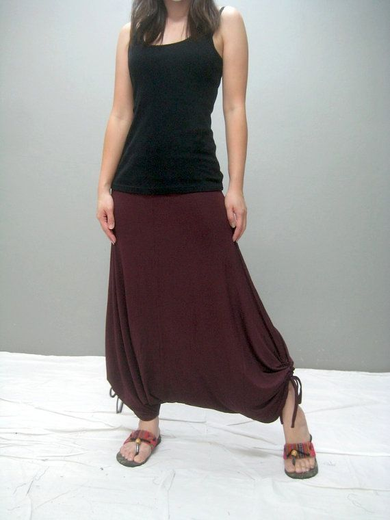 Long skirt could be changed into harem pants                                                                                                                                                                                 More