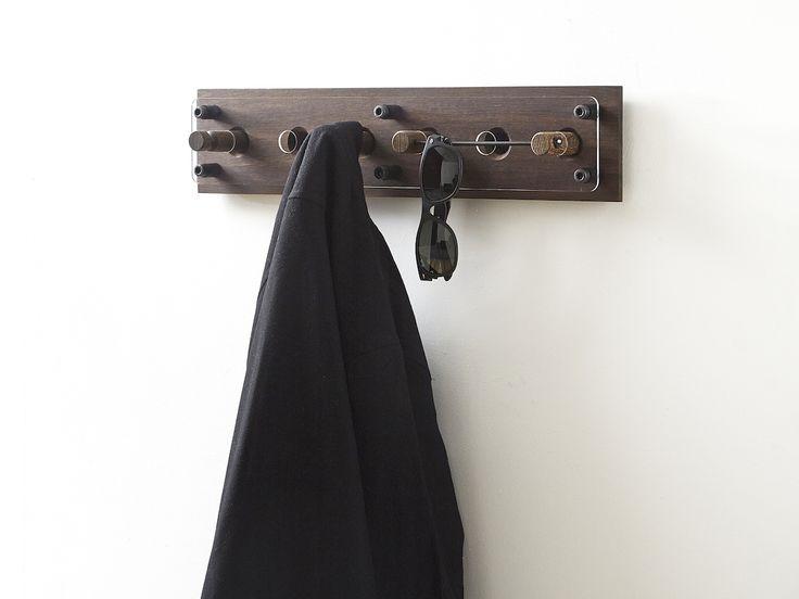 Moodboard 1X6 Fumed Oak - Magnetic Hanger System - Glasses - Shirt - Jacket
