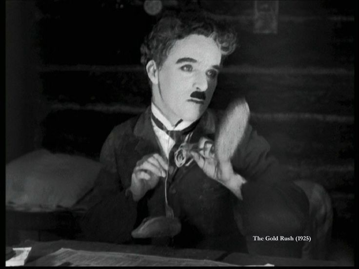 Charlie Chaplin in The Gold Rush (1925).