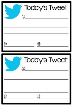 Twitter exit cards -- Today's Teaching Tweet. Students put their names in the…