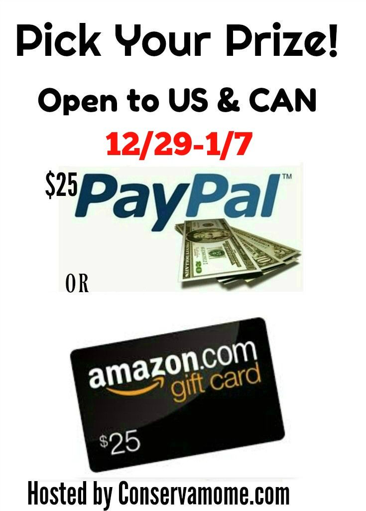 Pick Your Prize Giveaway 25 Amazon Or Paypal Gift Card Paypal Gift Card Prize Giveaway Paypal Cash