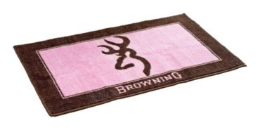 Browning® Buckmark Pink and Brown Bath Mat | Bass Pro Shops