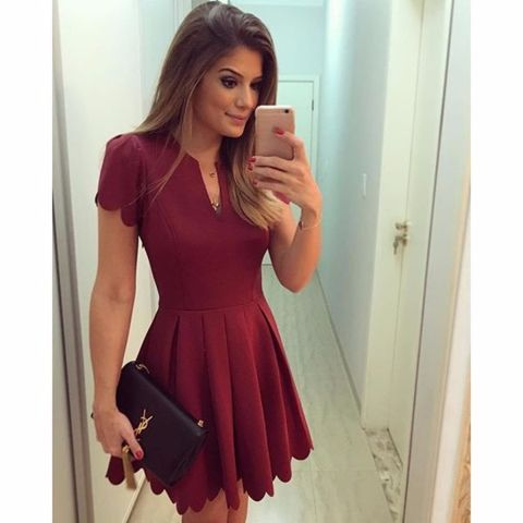 - Hot elegant sleeve party mini red dress for the stylish fashionista - Urban design offers a stylish trendy look - Perfect for special occasions or parties - Made from high quality material