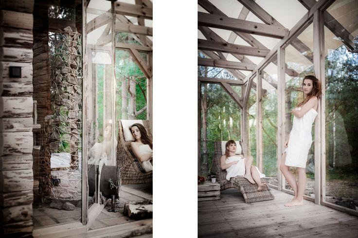SAUNA Camp SPA | opalana drewnem z widokiem na las