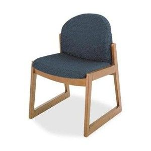 Safco 7930BL1 Chair, Armless Guest, 2-3/4 in.x23 in.x31-1/4 in., Medium Oak/BK