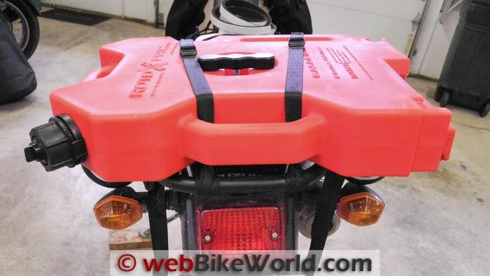 Rotopax Fuel Pack on Suzuki DR-Z400S