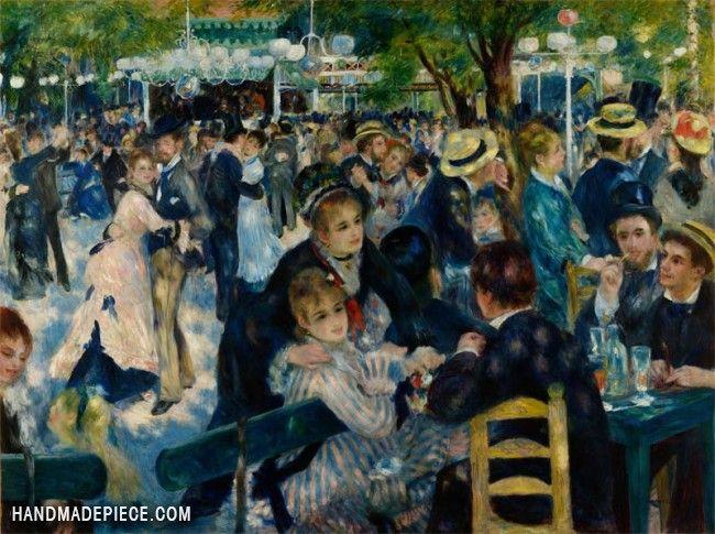 Dance At The Moulin De La Galette Renoir Paintings World Famous