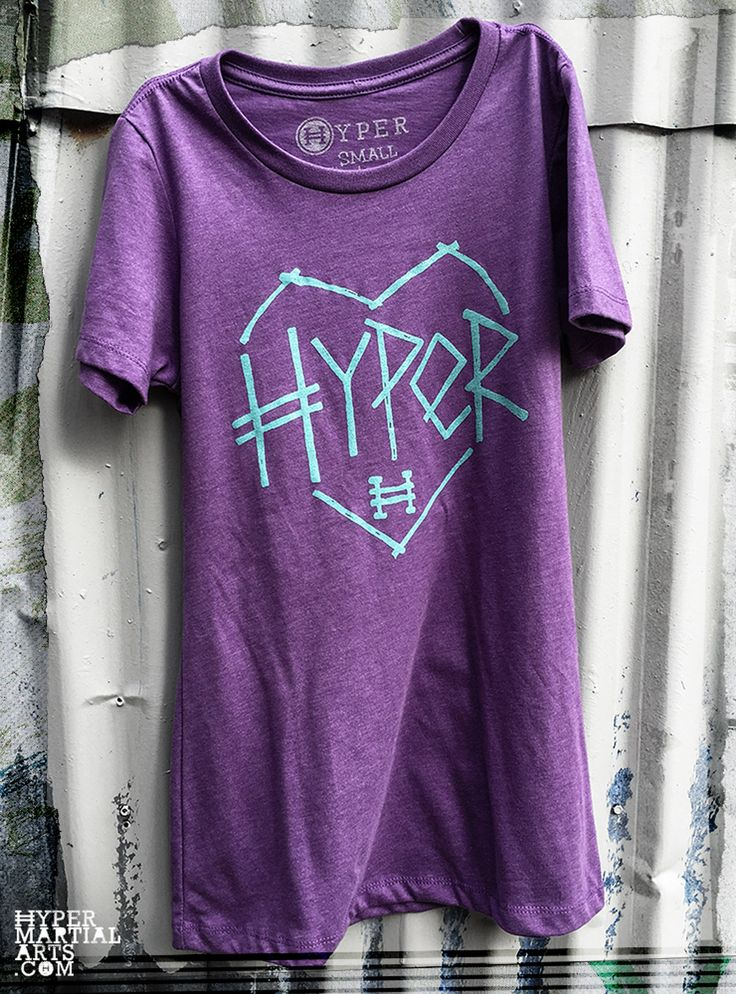 Sticks & Stones won't break my bones! Hyper Girls are tougher than anyone else in the world! Don't mess with them. Purple Berry Ladies style shirt. 60% combed ring-spun cotton 40% Poly supersoft jersey. Made in USA