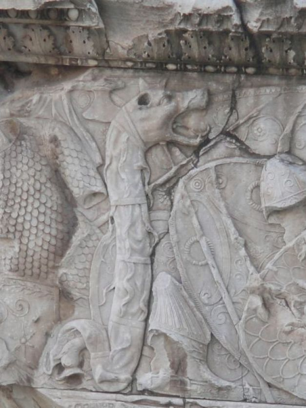 O cercetătoare din Braşov explică secretele, originea şi transformarea steagului folosit de daci: şarpele cu cap de lup.
