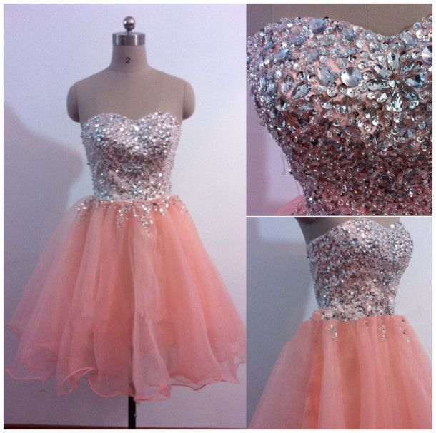 Pink a-line princess dress,homecoming dress short prom dress,high quality prom dress,beautiful beading prom dress,Elegant Women dress,Party dress L443