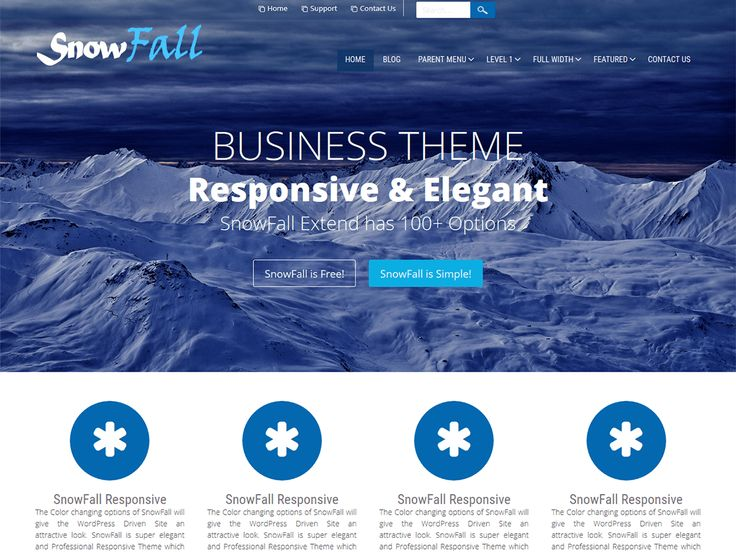 SnowFall is CSS3 Powered and WordPress Latest Version Ready Responsive Theme for Business.  Super Elegant and Professional SnowFall Theme will be adjusted automatically with all smart devices if the Responsive Layout be selected.  Full Wide Template can be used for showing showcase or other pages. Featured Boxes, Portfolio and Staff Boxes can represent your company to the world. You can Visit the SnowFall Demo at http://demo.d5creation.com/themes/?theme=SnowFall and ...