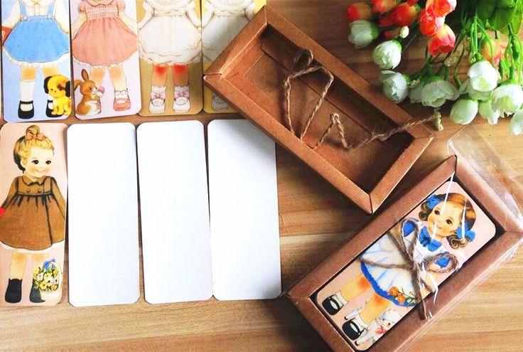 30 Шт./лот Новая девушка кукла mate серии Bookmark set с Крафт упаковки бумажные закладки книга держатель карты сообщение купить на AliExpress