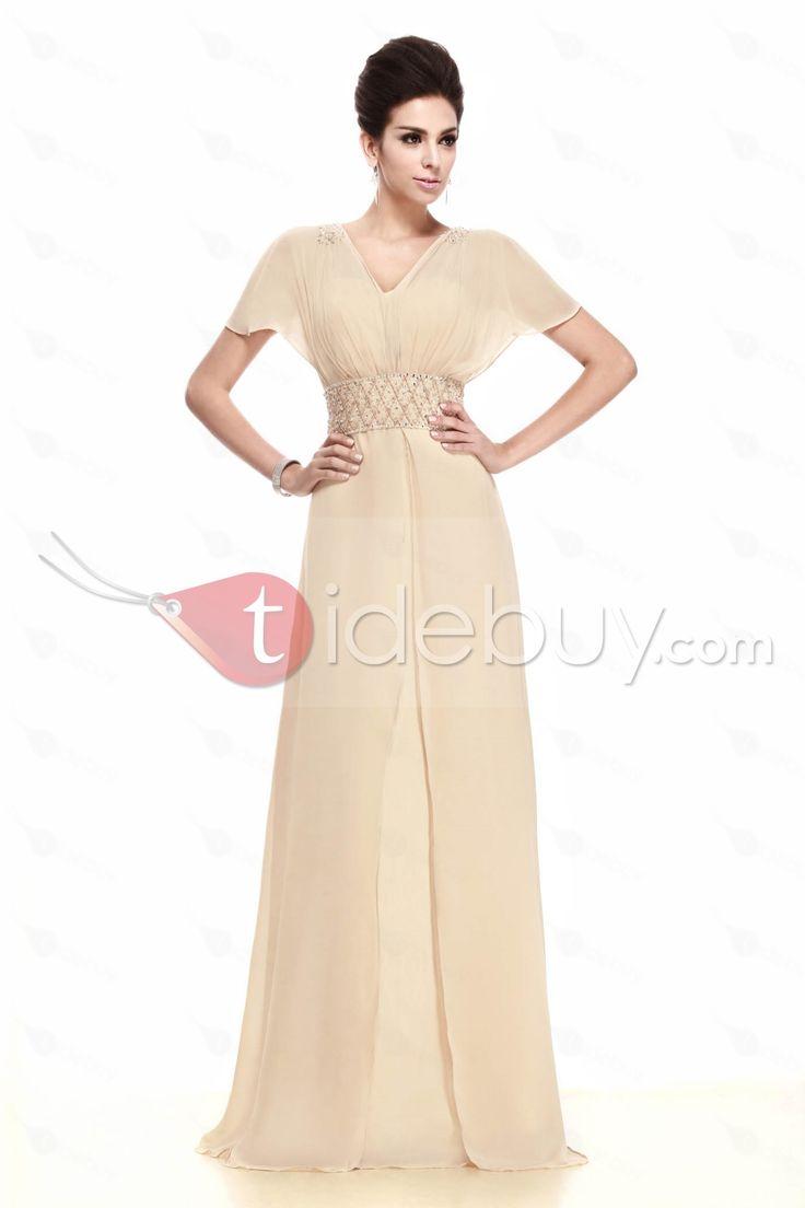 シース/クラムショットスリープ床長さの花嫁さんの母ドレス