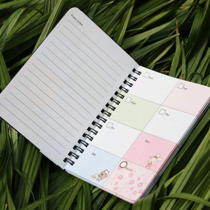 Канцелярские ноутбук катушкой небольшой weeky план блокнот планировщик организатор спираль купить на AliExpress