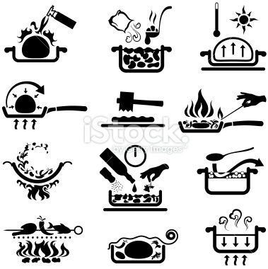 Cooking Methods Royalty Free Stock Vector Art Illustration