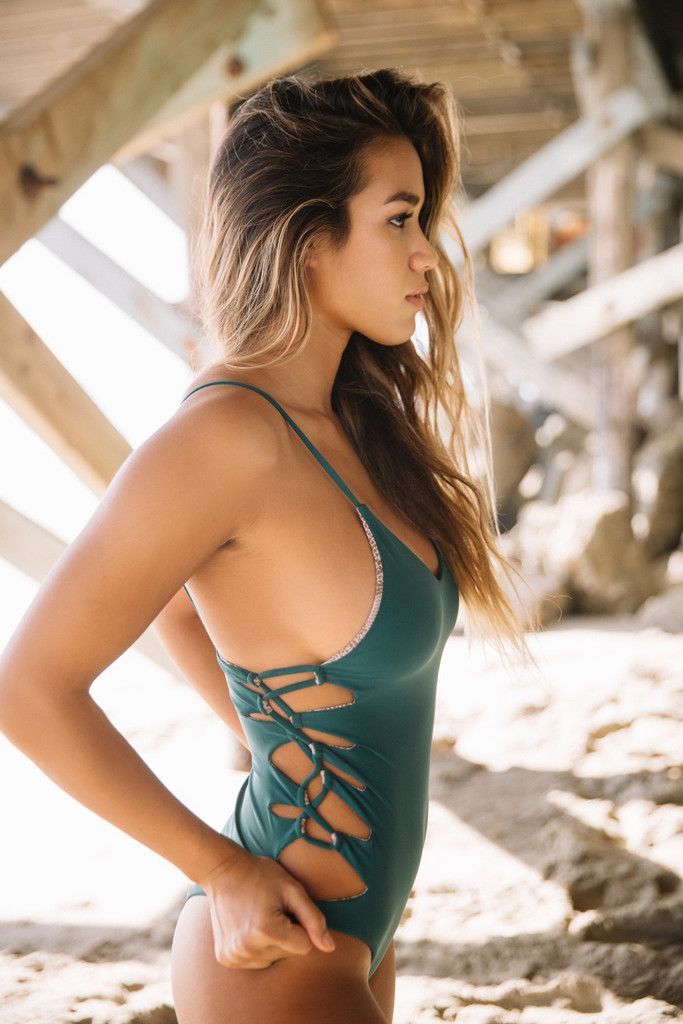 Acacia Swimwear 2016 || Florence one piece in seaweed