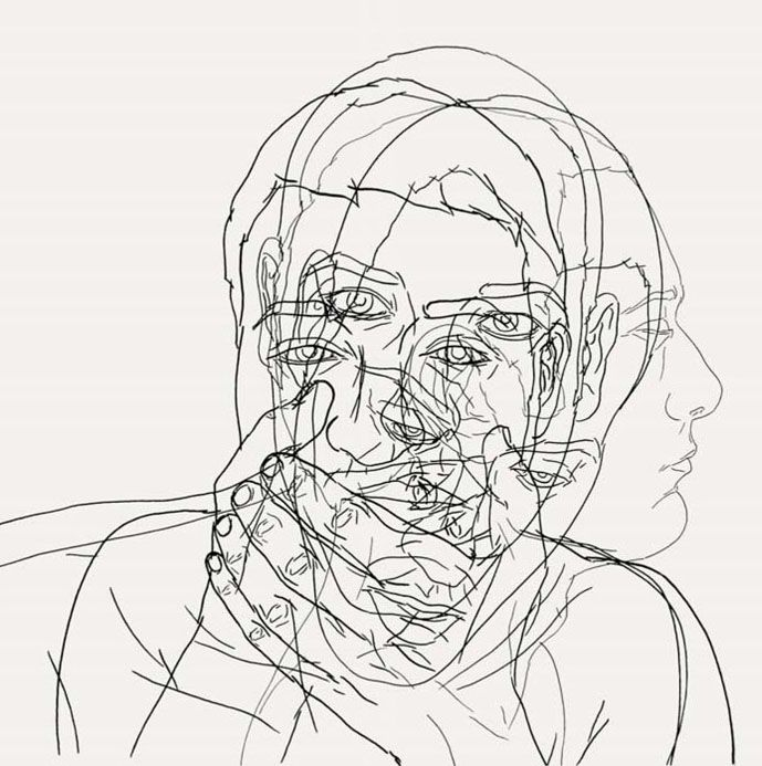 Line Drawing Of Yourself : Movement gezichten pinterest
