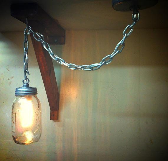 Rustic Industrial Modern Mason Jar Lights Vanity Light: 49 Best Industrial Rustic Lighting Images On Pinterest