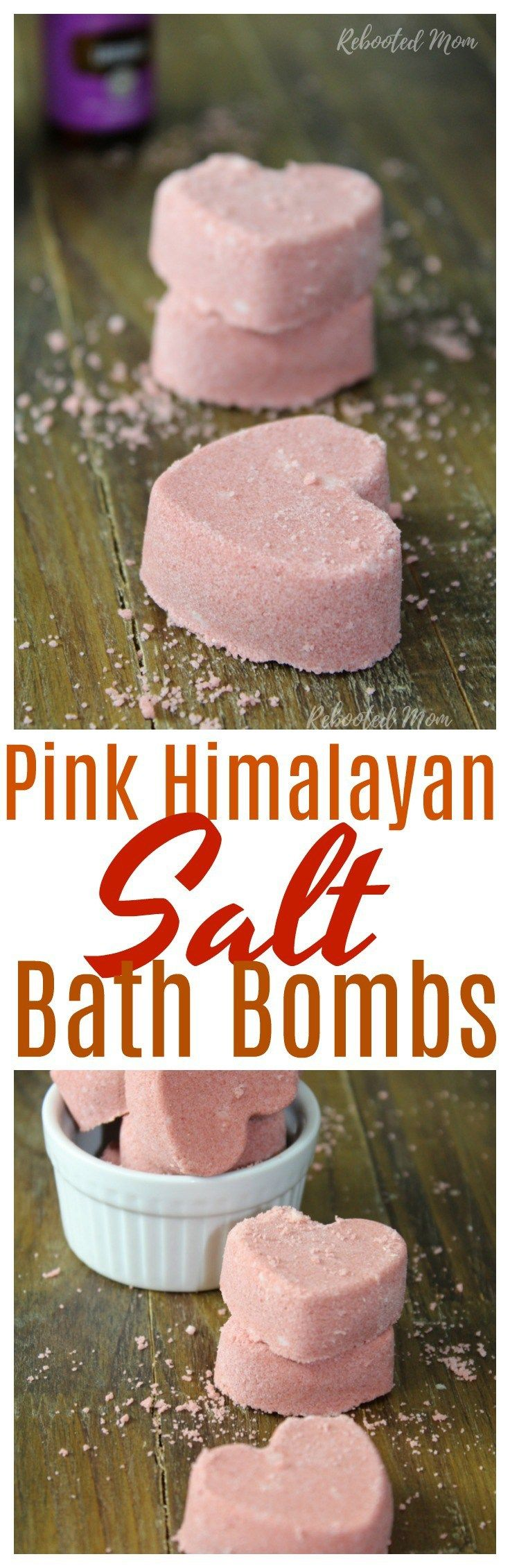 These Pink Himalayan Salt Bath Bombs are super easy to make and great as gifts!