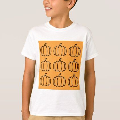 Pumpkin Halloween Thanksgiving Orange T-Shirt - thanksgiving tshirts custom unique happy thanksgiving holiday celebrate