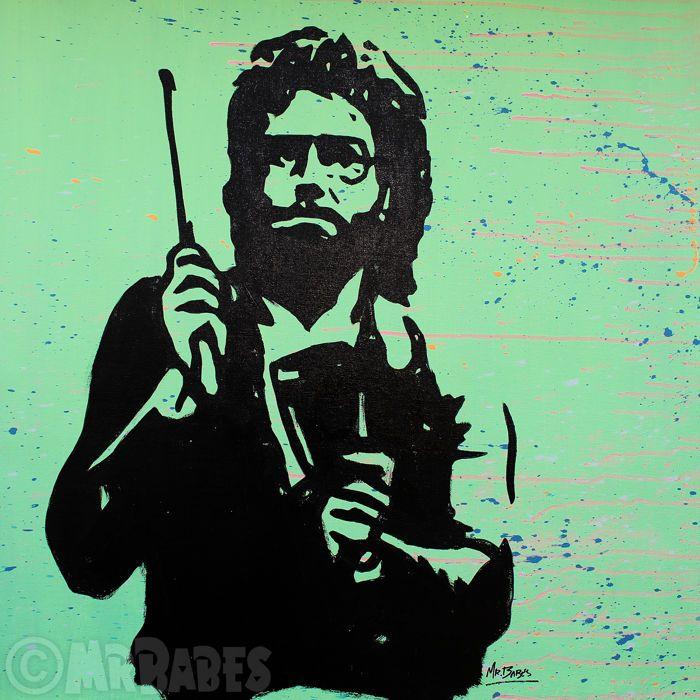 """MIJNHEER. BABES - Saturday Night Live: Meer koebel (Will Ferrell)  Grootte: 30 """"x 30"""" (77x77cm)Medium: Acryl Spray & huis verf op doekEditie: origineleHand ondertekend rechtsonderOrigineel handgeschilderde & een van een soortCertificaat van echtheid opgenomenMIJNHEER. BABES is een Hawaiiaanse pop kunstenaar wiens werk heeft tentoongesteld overal uit New York naar Tokyo. Voordat hij werd bekend als een professionele kunstenaar heer. BABES gevonden succes als een kunst makelaar curator en…"""