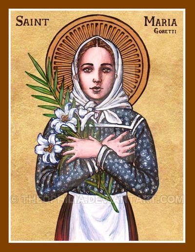 St. Maria Goretti icon by Theophilia.deviantart.com on @DeviantArt