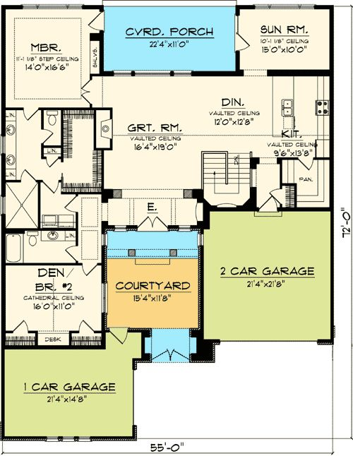 Plan 89823ah timeless tuscan with courtyard luxury houses for Timeless house plans