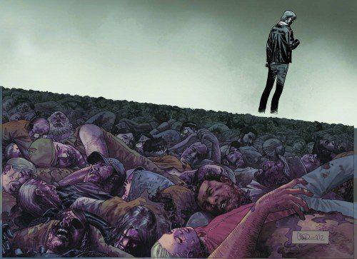 Walking Dead #100 Charlie Adlard Chromium Wraparound @ niftywarehouse.com #NiftyWarehouse #WalkingDead #Zombie #Zombies #TV
