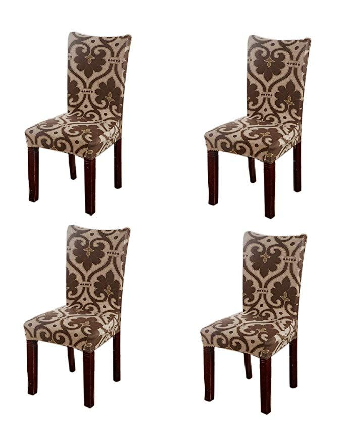 Amazon Com Jiuhong Stretch Removable Washable Short Dining Chair Protector Cover Slipcover S Reupholster Chair Dining Room Chair Covers Slipcovers For Chairs