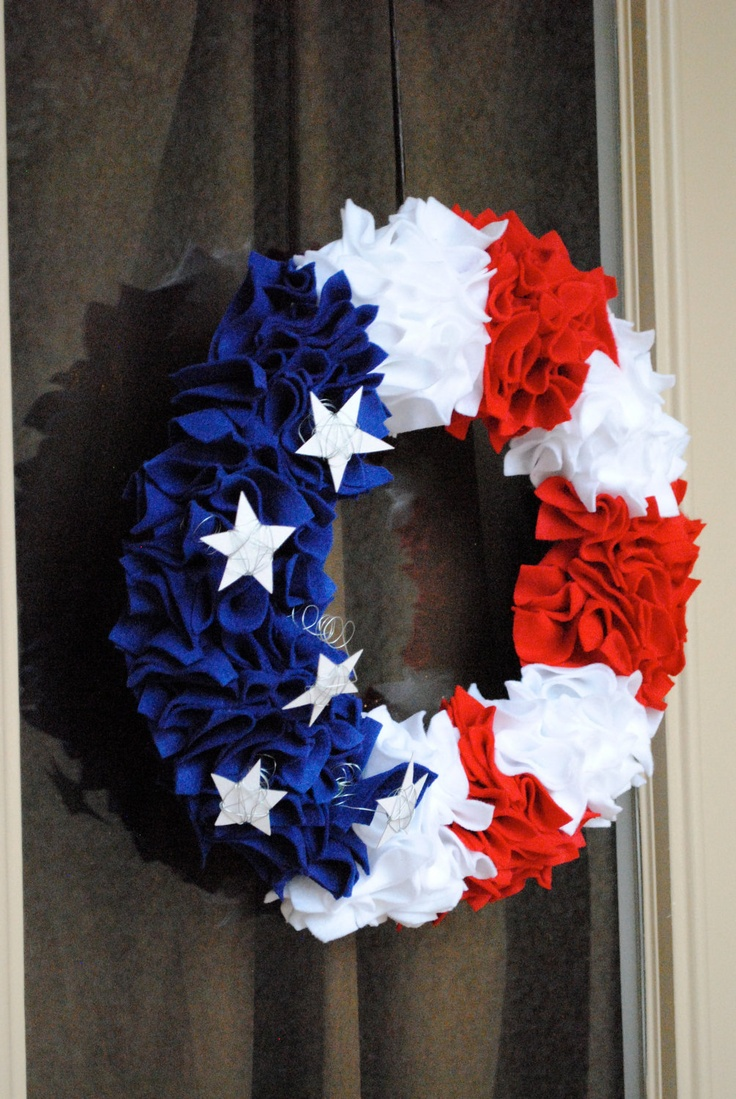 4th Of July Wreath Made With Coffee Filters Celebrate