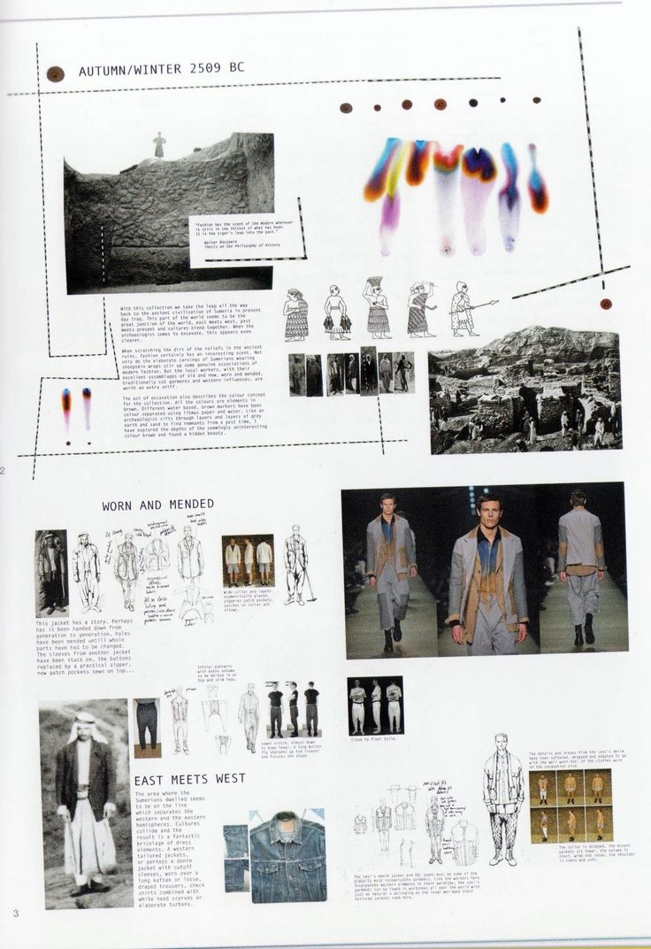Fashion Portfolio - fashion design research, illustrations and collection development; fashion sketchbook // Harald Helgessen