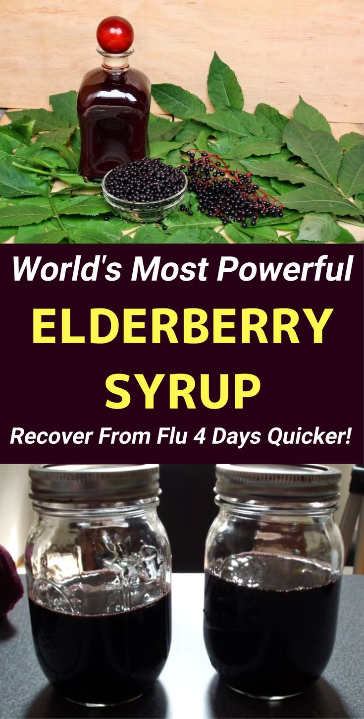 Homemade elderberry syrup recipe: This natural remedy can cure the cold & flu in no time! This recipe is also kid-friendly. Enjoy the benefits!