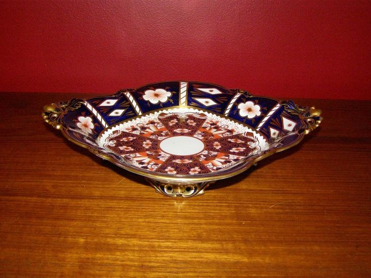 Royal Crown Derby Imari Footed Dish w/ Old Restoration - Ca. 1920