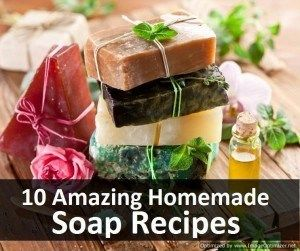 Want to try making your own soaps? Here are 10 Amazing Homemade Soap Recipes all in one convenient place! Share this with your soap making friends so they can check it out!
