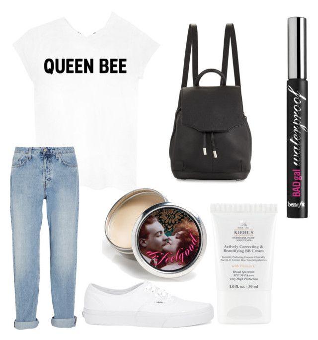 """"" by jasminehekekire on Polyvore featuring Queen Bee, MiH Jeans, rag & bone, Benefit, Kiehl's and Vans"