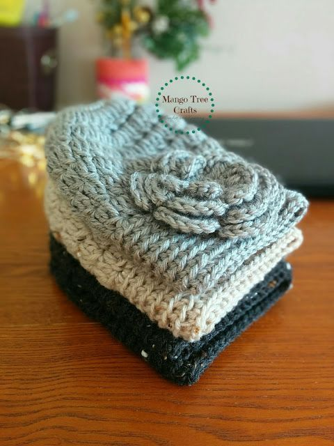 Mango Tree Crafts: Messy Bun Hat Free Crochet Pattern in 3 Sizes