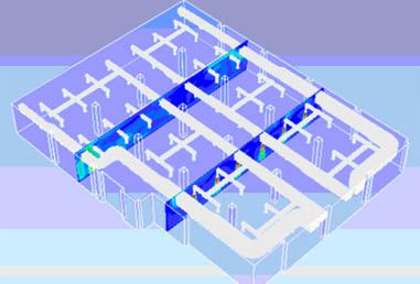 CFD Helps to Predict the Flow Behavior inside Building HVAC Application